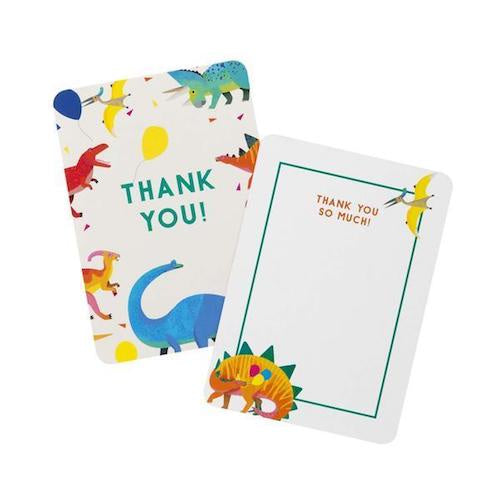 Pack of 8 Dinosaur Thank You Cards