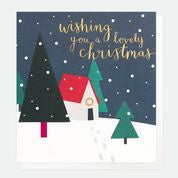 Scandinavian House In Snow Pack Of 8 Charity Christmas Cards