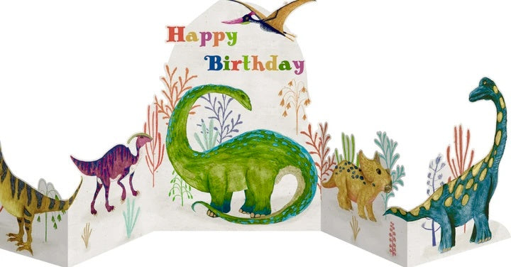 Dinosaurs Concertina Birthday Card