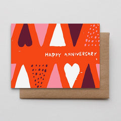 Happy Anniversary Cones And Dots Card