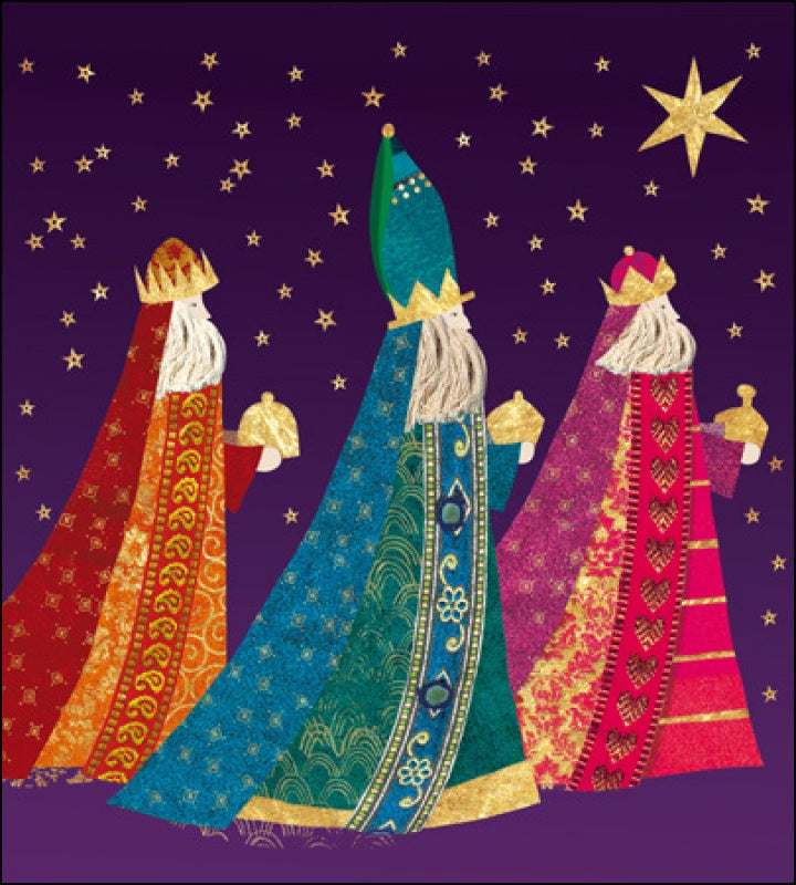 We Three Kings Charity Pack of 5 Christmas Cards