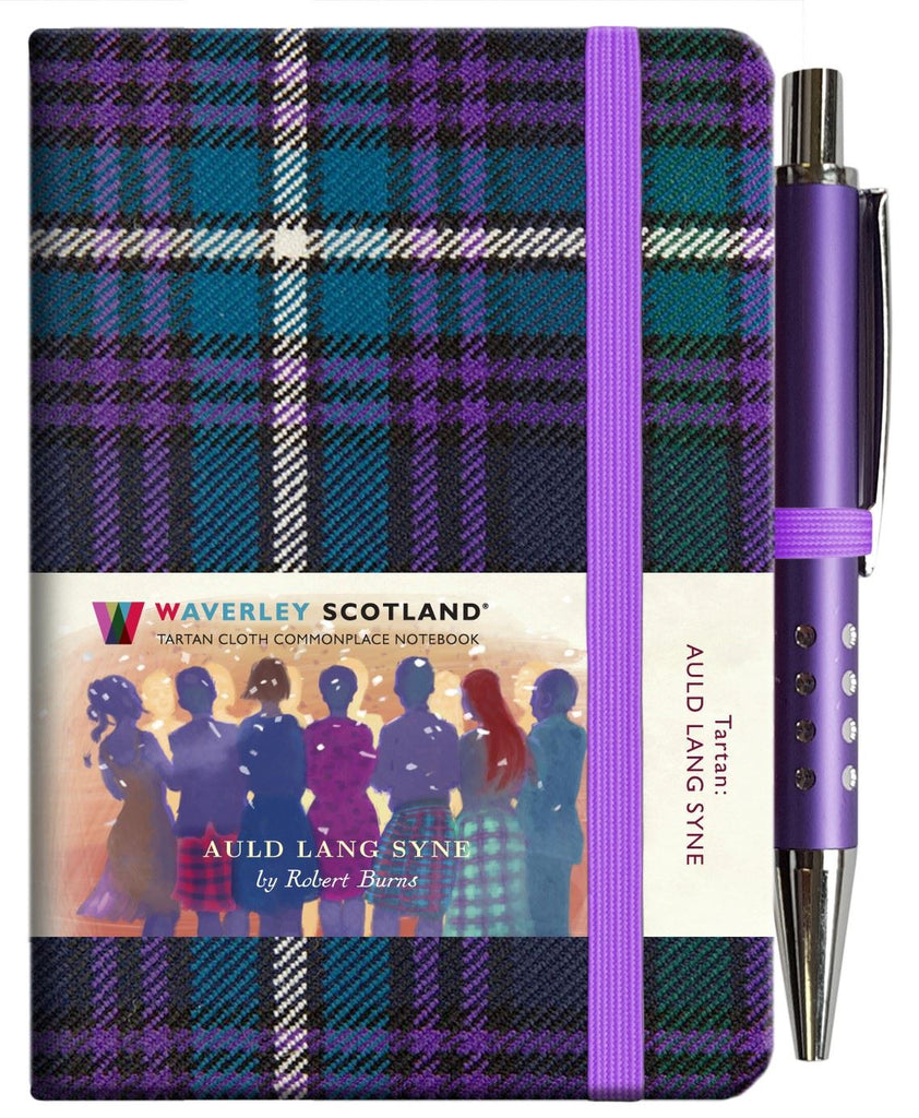 Mini Tartan Notebook With Pen - Auld Lang Syne