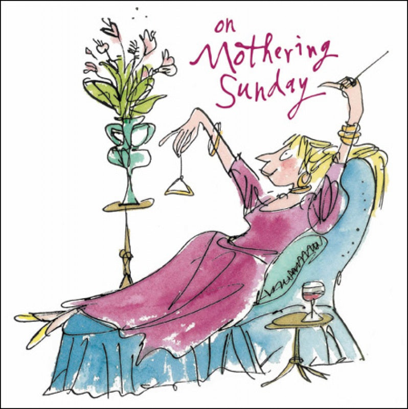 Quentin Blake on Mothering Sunday Card