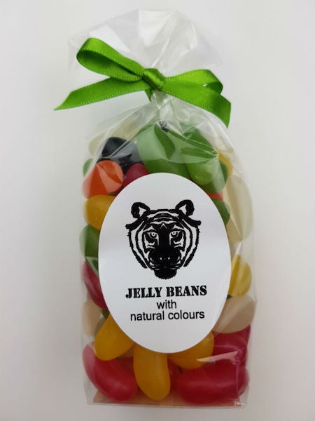Paper Tiger Jelly Beans in a Ribboned Bag