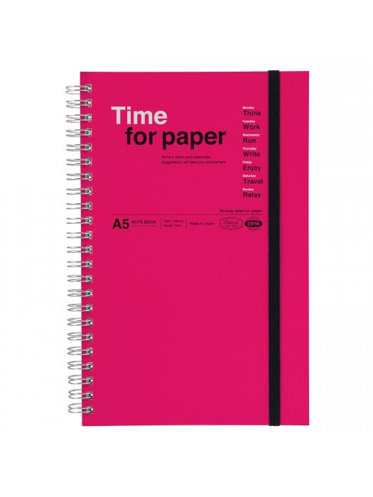 Time for Paper Pink Spiral Bound Notebook