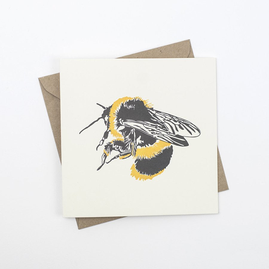 Bumble Bee Letterpress Card