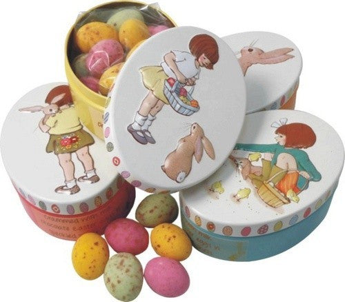 Belle & Boo Oval Tin with Speckled Eggs