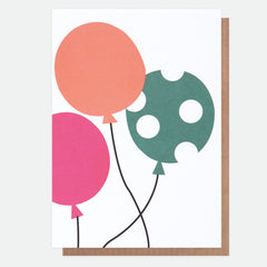 Three Balloons Card