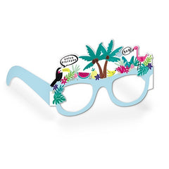 Tropical Vibes Birthday Glasses