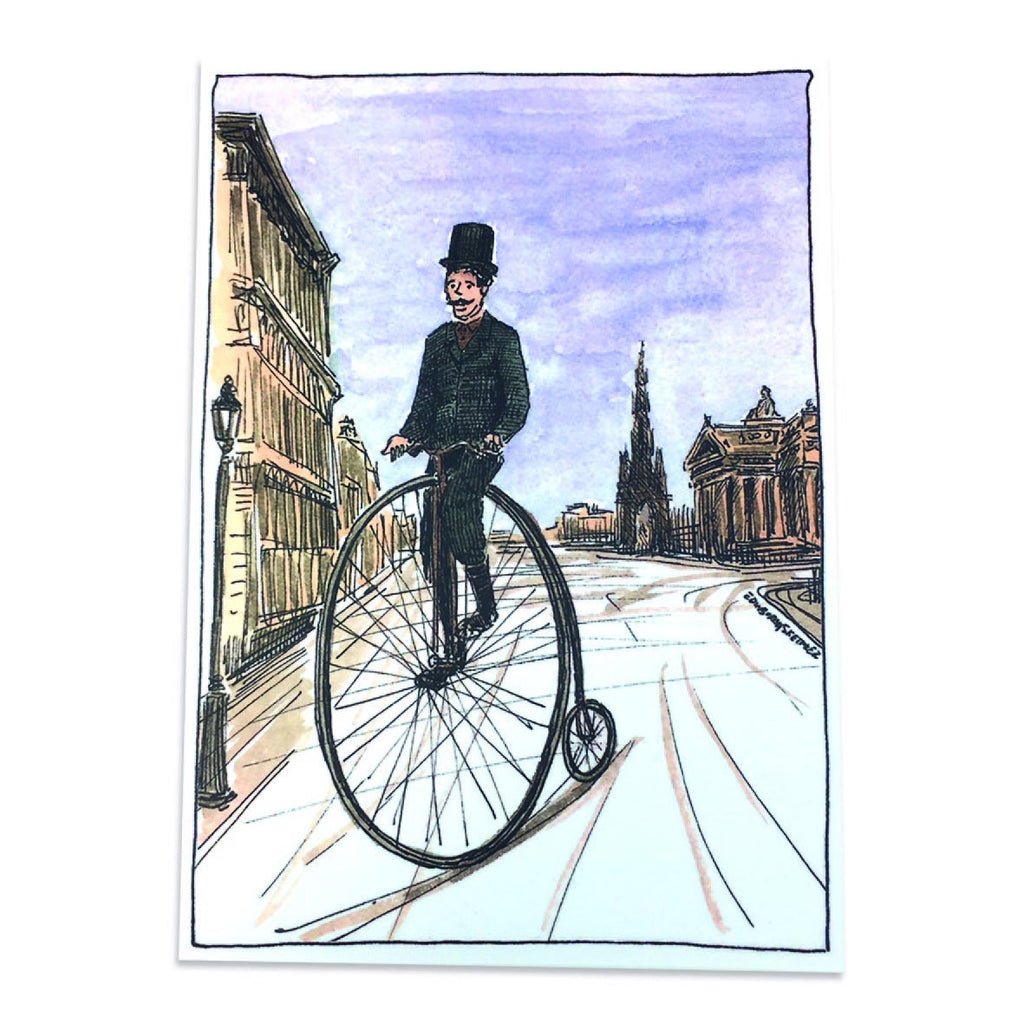Victorian Cycles Princes Street Post Card