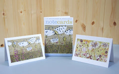Agapanthus/Autumn Spey Lithographs By Angie Lewin Pack of 10 Notecards