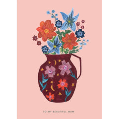 Beautiful Mum Vase Card