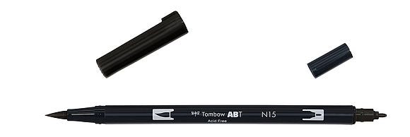 Tombow Dual Brush Pen Black
