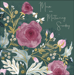 Mum on Mothering Sunday Roses Card