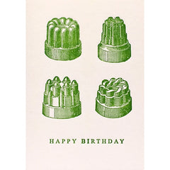 Happy Birthday Jelly Moulds Card