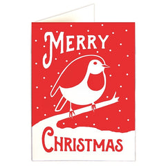 Merry Christmas Red Robin Pack of 5 Cards