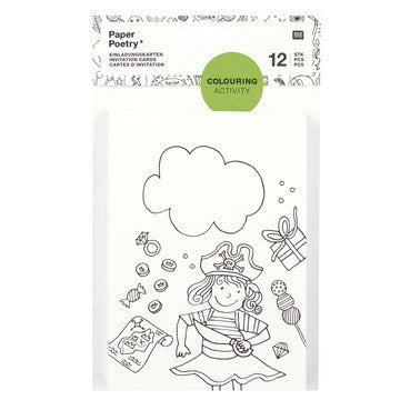Invitation Cards Colouring Activity Pack of 12