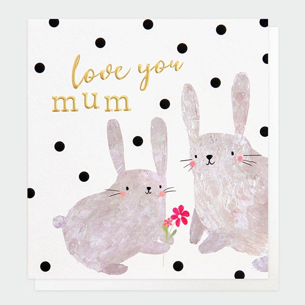Love You Mum Rabbits Mother's Day Card