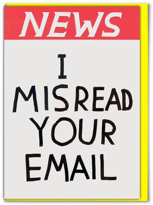News Misread Your Email Card