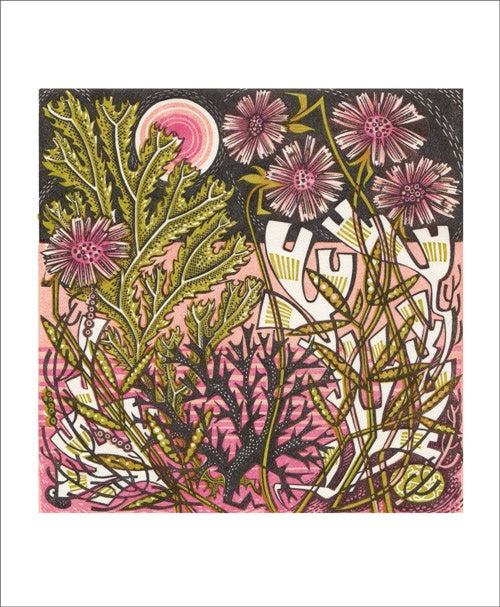 Sea Pinks by Angie Lewin Card