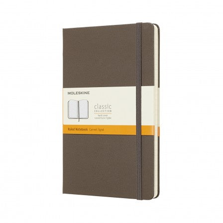 Moleskine Large Hardback Ruled Notebook Earth Brown