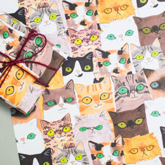 Cat faces Sheet Wrap