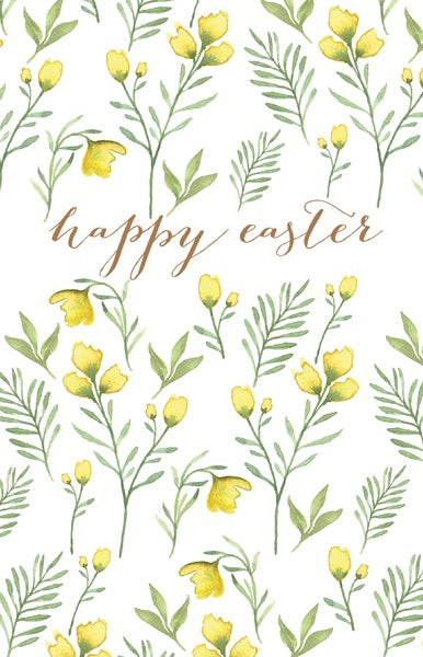 Easter Yellow Flowers Pack of 6 Cards