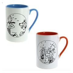 Tintin Champagne and Great Dane Mug Duo