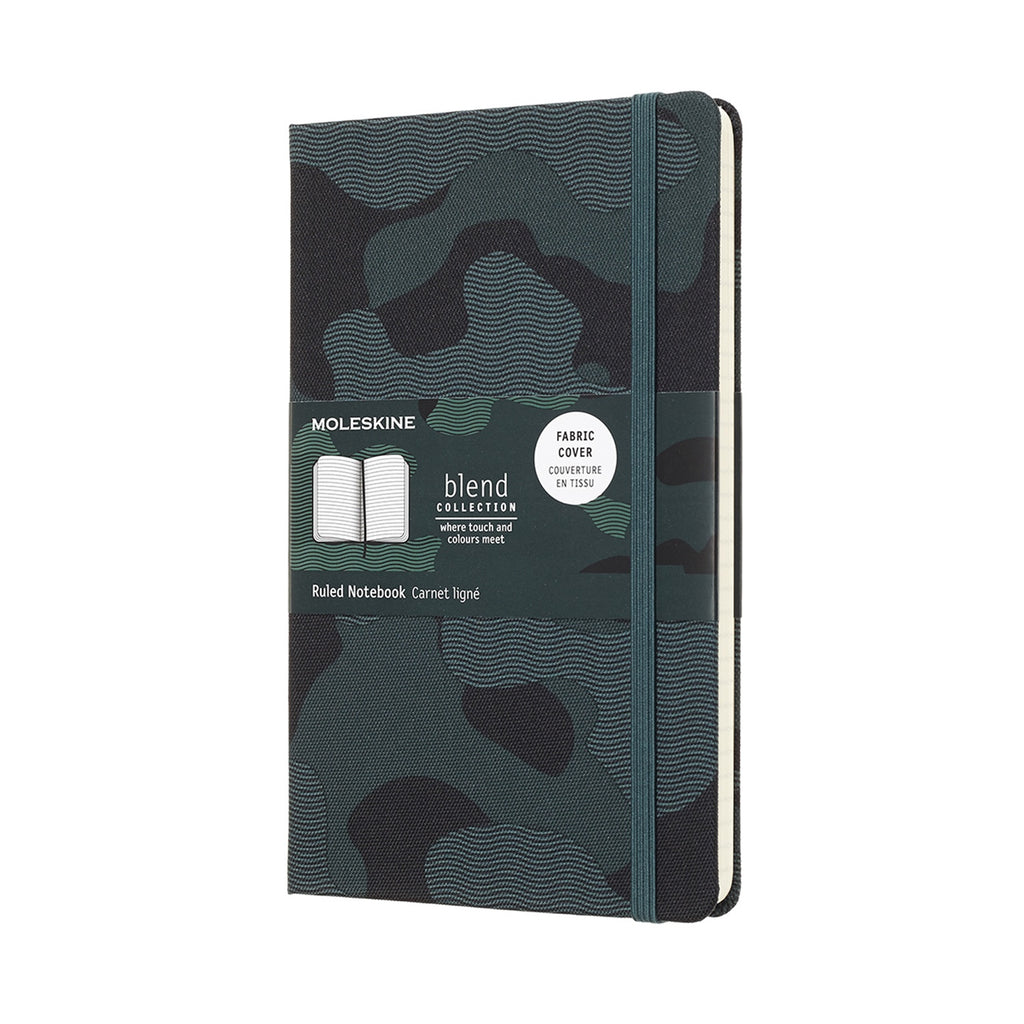 Nomad Blend Green Camouflage Moleskine Notebook