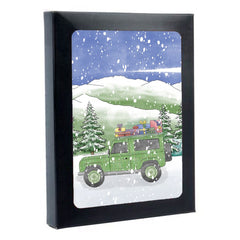 Tartan Land Rover Box of 6 Christmas Cards