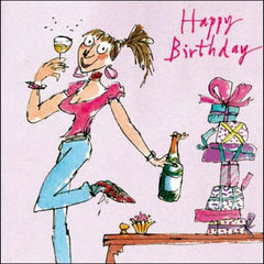 Just a Little Sip Quentin Blake Birthday Card