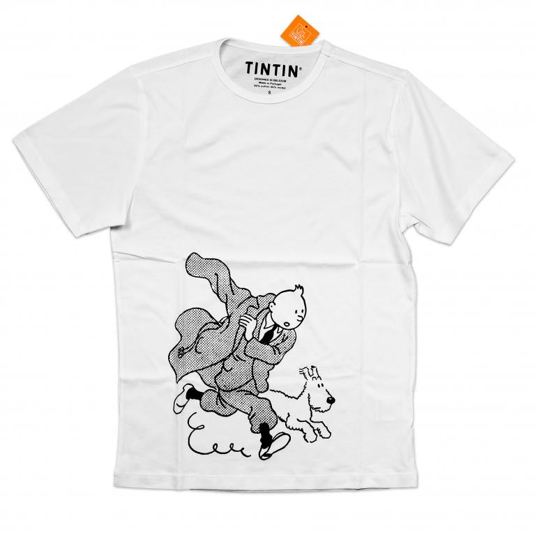 Tintin Trench Kids T-Shirt White