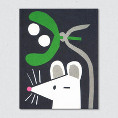 Mistletoe Mouse Card