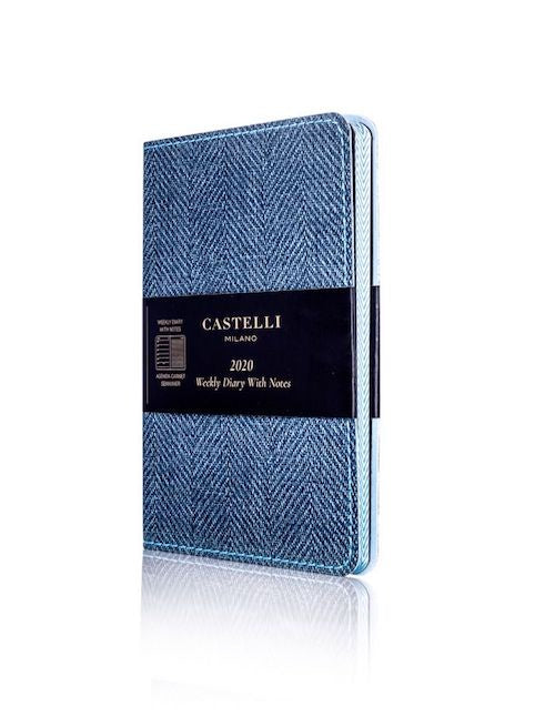 Castelli Harris Slate Blue Weekly Pocket 2020 Diary