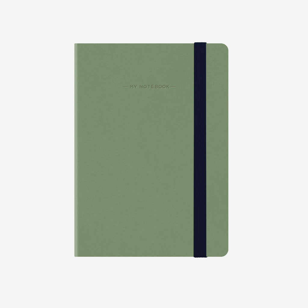 Large Plain Vintage Green Notebook