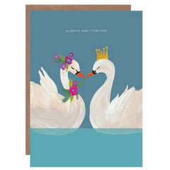 Always And Forever Swans Card