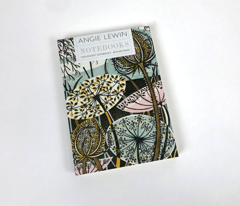 'Teasel' & 'Autumn Teasels' Notebooks by Angie Lewin