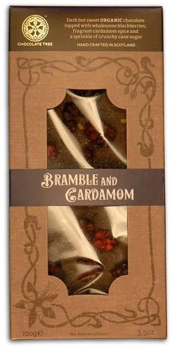 Organic Dark Chocolate Bramble and Cardamon 58%