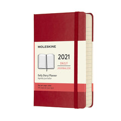 Moleskine 2021 Pocket Daily Planner Hardcover Red