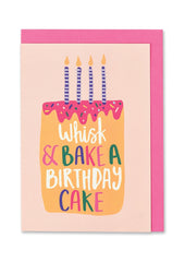 Whisk & Bake A Birthday Cake Card