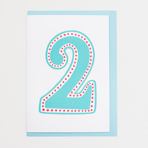 Number Two Card