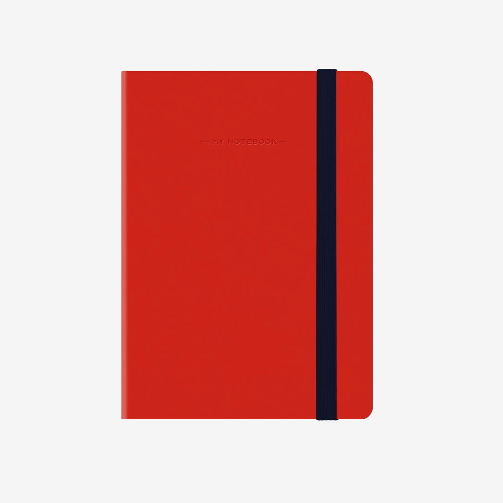 Small Squared Red Notebook