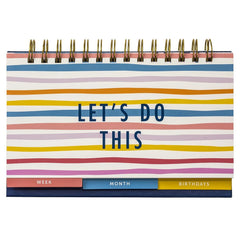 Busy B Bright Stripes Week and Month Planner