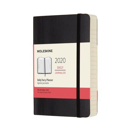 Moleskine 2020 Daily Pocket Diary Black Soft Cover