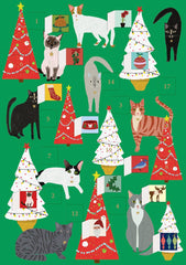 Fabulous Felines Advent Card