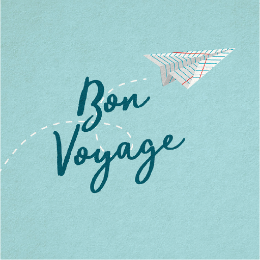 Bon Voyage Paper Airplane Card