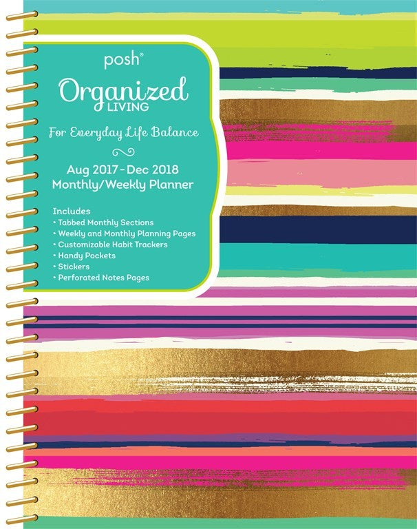 2017/2018 Posh Organised Living Diary