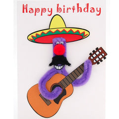Mexican Guitarist Birthday Card
