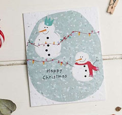 Happy Christmas 2 Snowmen Seed Card