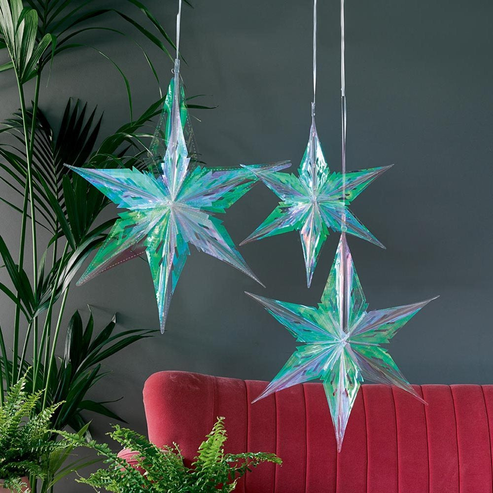 Iridescent Star Decorations